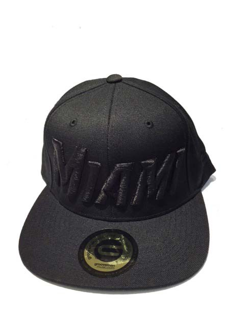 Grooveman Embroidered Hat | Miami Black Solid