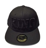Grooveman Embroidered Hat   KING Black Solid