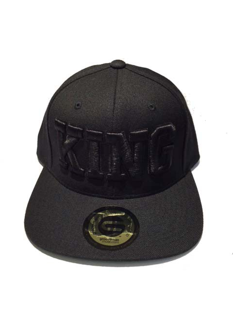 Grooveman Embroidered Hat | KING Black Solid