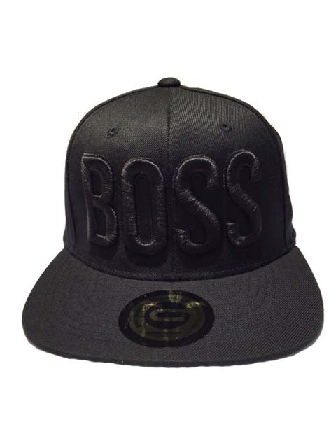 Grooveman Embroidered Hat | Boss Black Solid