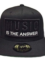 Grooveman Embroidered Hat | Music is the Answer White