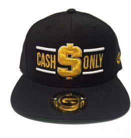 Grooveman Embroidered Hat | Cash Only White, Gold