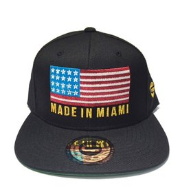 Grooveman Embroidered Hat | Made in Miami Flag