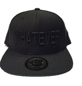 Grooveman Embroidered Hat | Whatever Solid Black