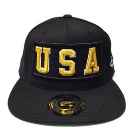 Grooveman Embroidered Hat | USA Gold