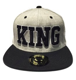 Grooveman Embroidered Hat | King Black Grey