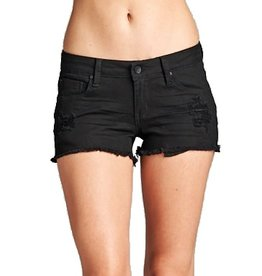 London Short Black Ripped