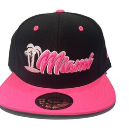 Grooveman Embroidered Hat | Miami Palm Pink