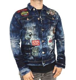 Copper Rivet Patch Denim Jacket
