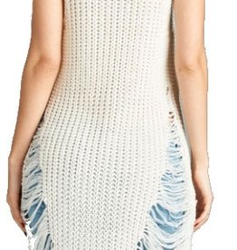 Grooveman Sleeveless Round Neck Sweater