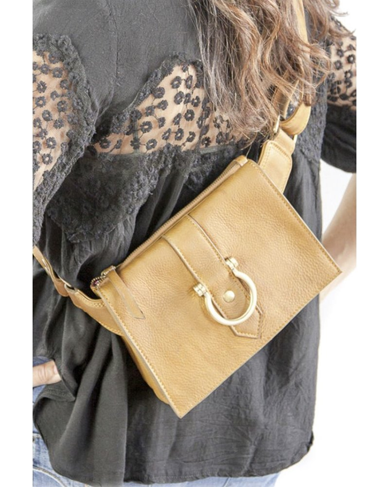 "Sapahn Leather ""Sarah Ann"" Crossbody In Mustard"