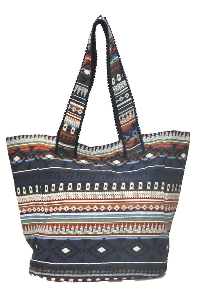 My BoHo Tote Bag In Navy