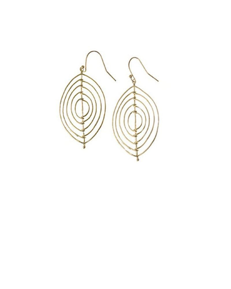 Marquise Wire Wrapped Earrings In Matte Gold