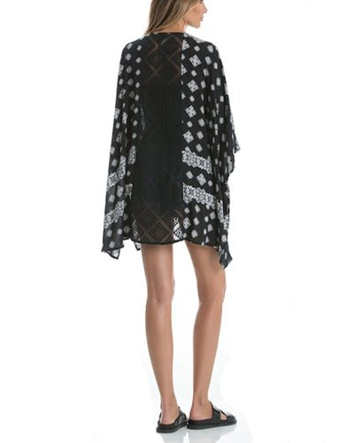The Throw On Short Kimono In Black & White
