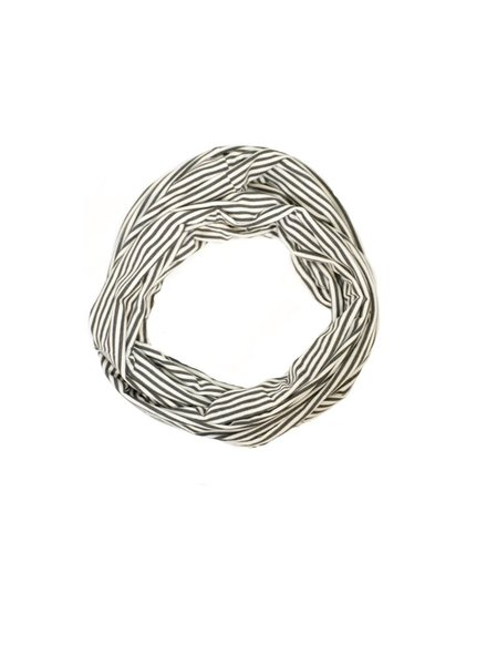 Soft Bamboo Infinity Scarf in Grey & White