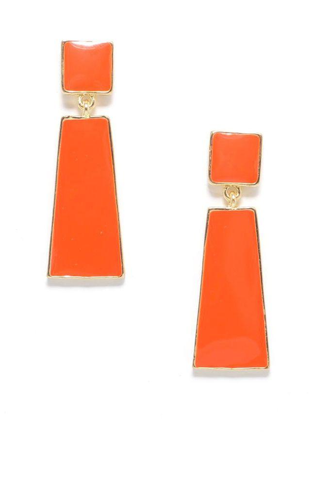 Hue Go Girl Earrings In Orange