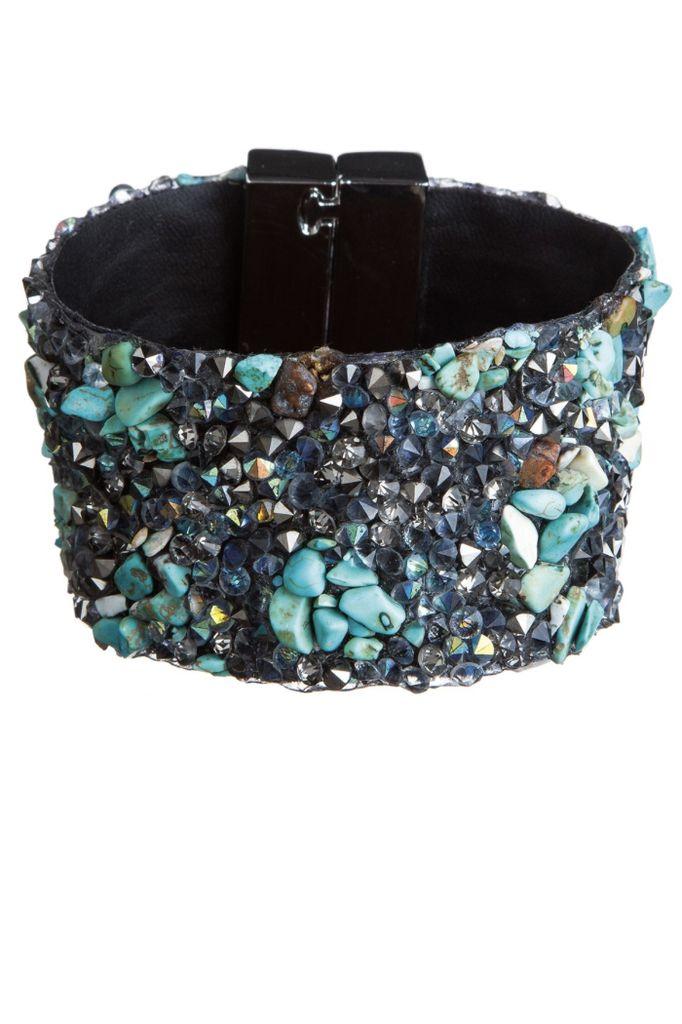 Turquoise & Hematite Stone Bracelet