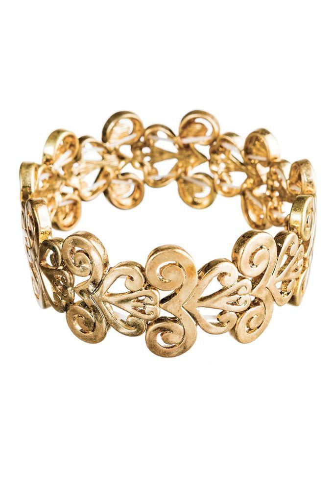 Swirl Stretch Bracelet In Gold