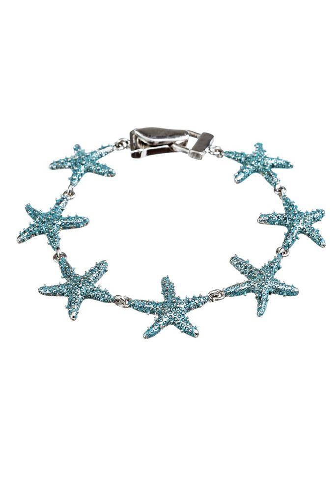 Teal Starfish Bracelet