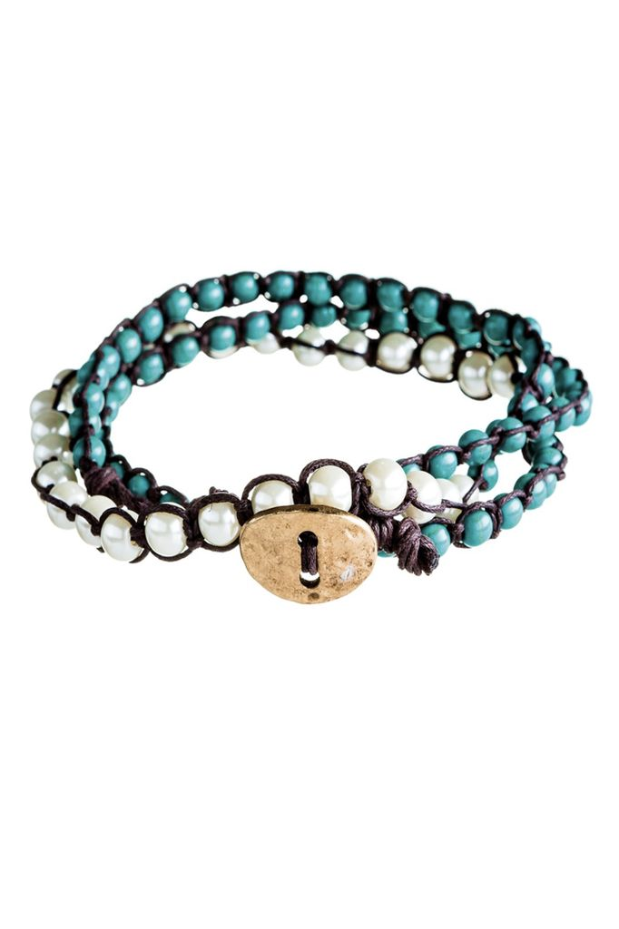 Mixed Bead Wrap Bracelet