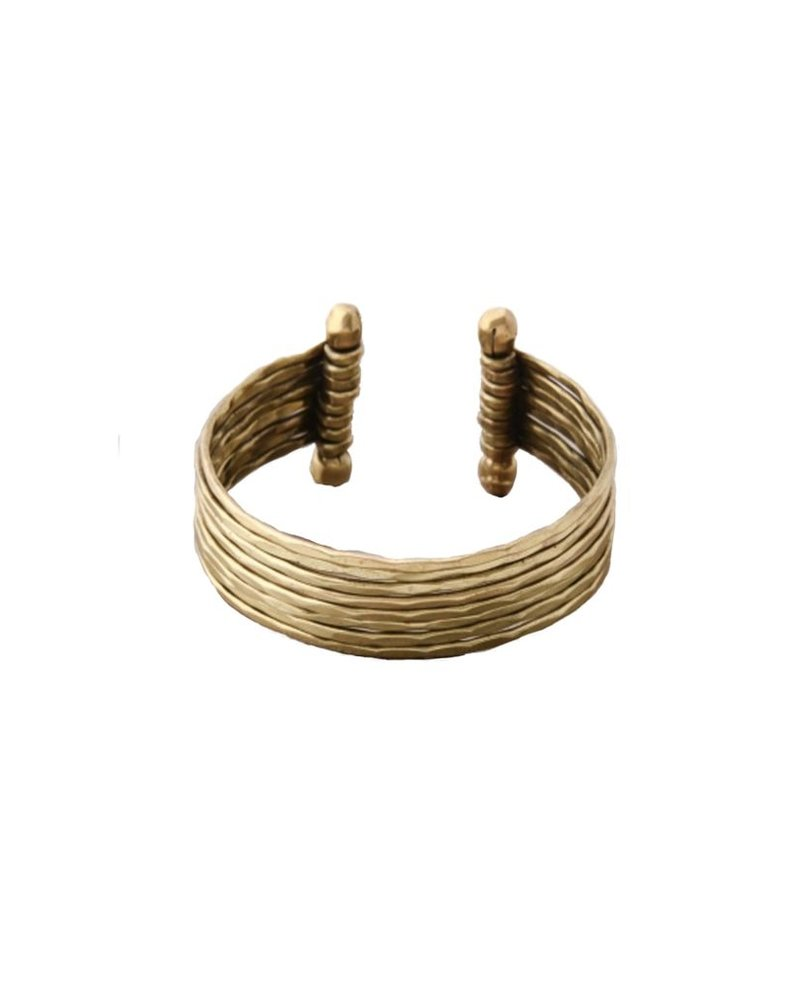 Hammered Metal Cuff In Gold