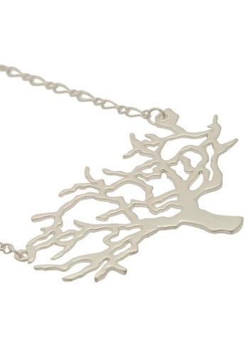 Silver Tone Tree Necklace