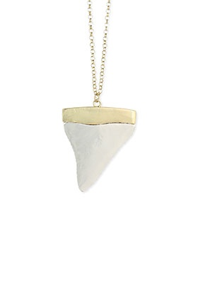 Silver/Gold Shark Tooth Necklace