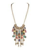 BoHo Bead Fringe Necklace