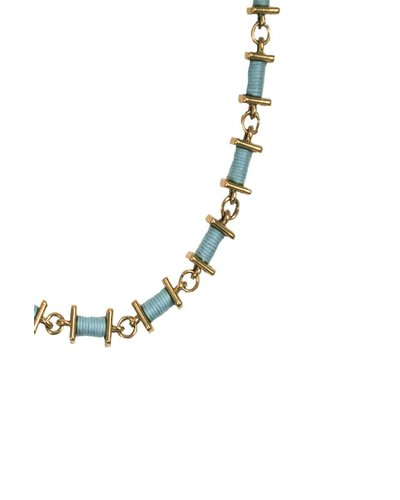 Turquoise Spindle Necklace