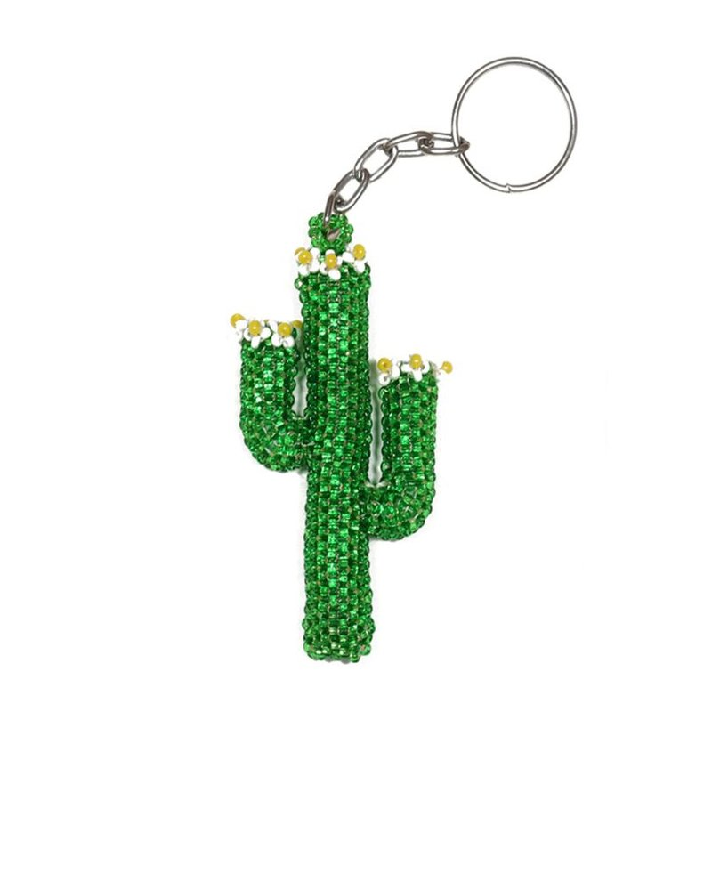 Beaded Cactus Key Chain