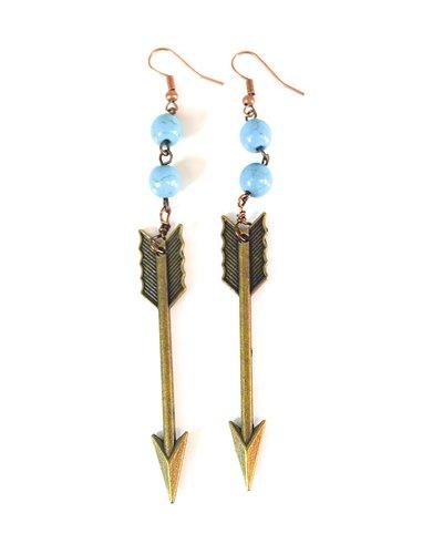 Straight As An Arrow Earrings