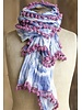 The Pom Pom Tye0Dye Scarf In Blue & White