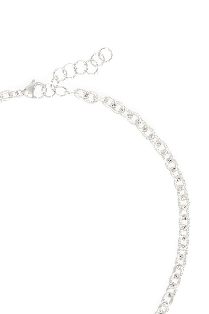 Rectangle Gemstone Charm Necklace