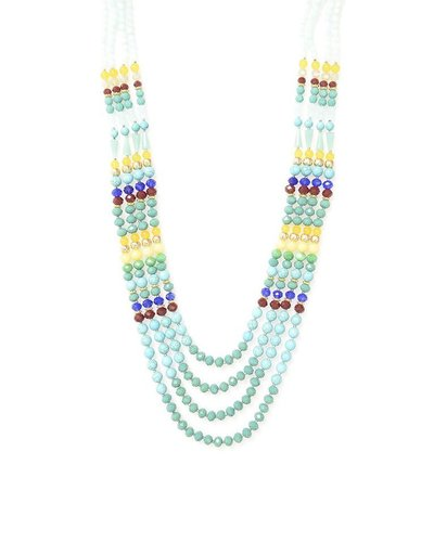 Beaded Beauty Necklace In Turquoise