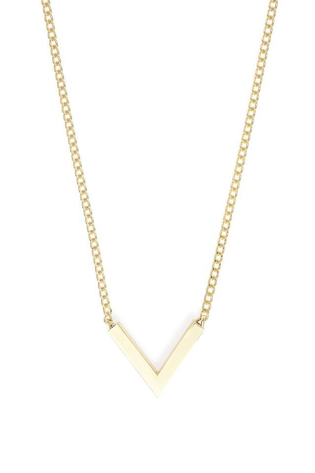 "The Deep ""V"" Necklace In Gold"