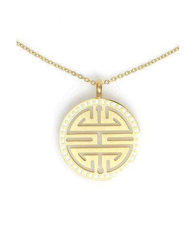Medallion Necklace In Gold