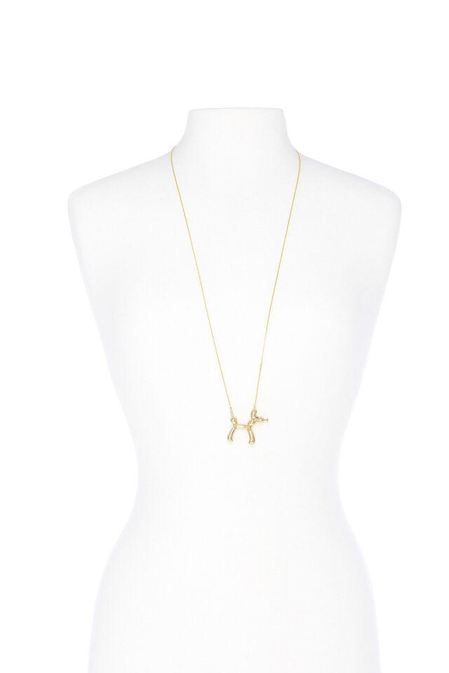 Ballon Animal Necklace In Gold