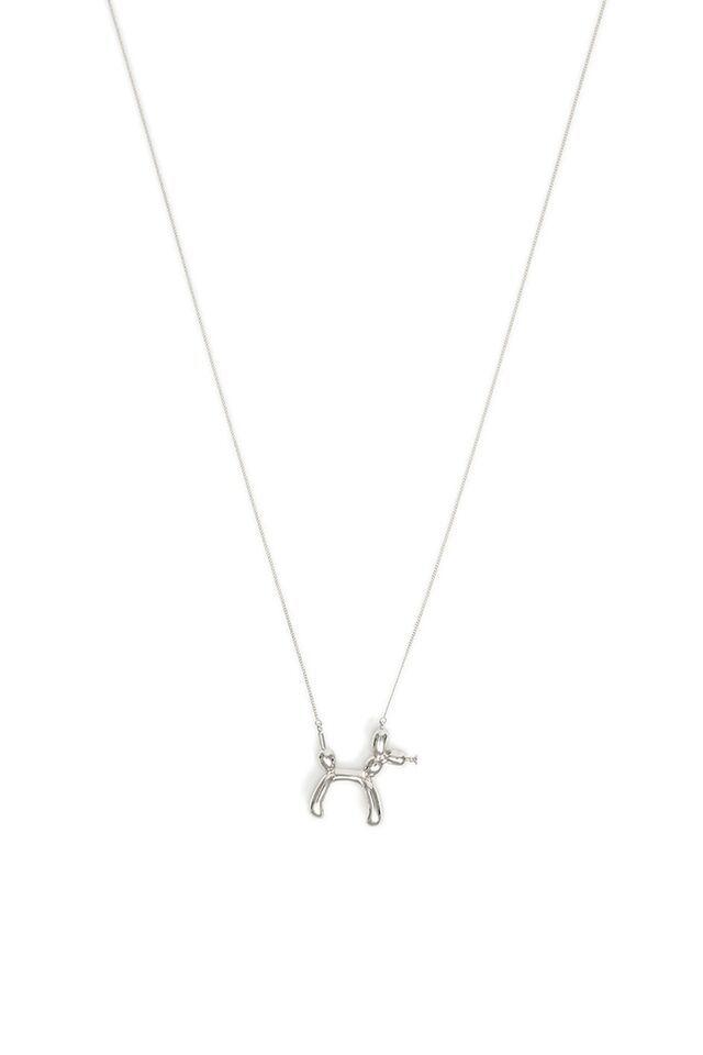 Ballon Animal Necklace In Silver