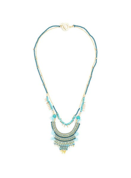 Shielding Ancestry Necklace In Turquoise