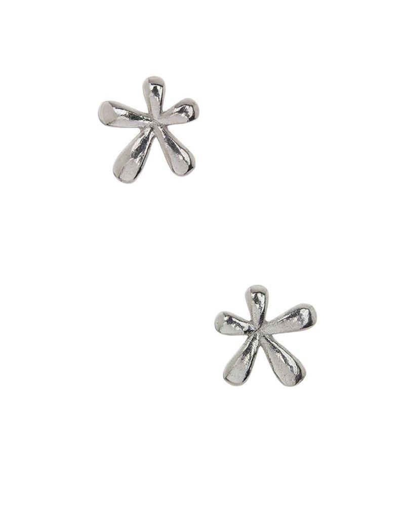 Teeny Tiny Splat Studs In Silver