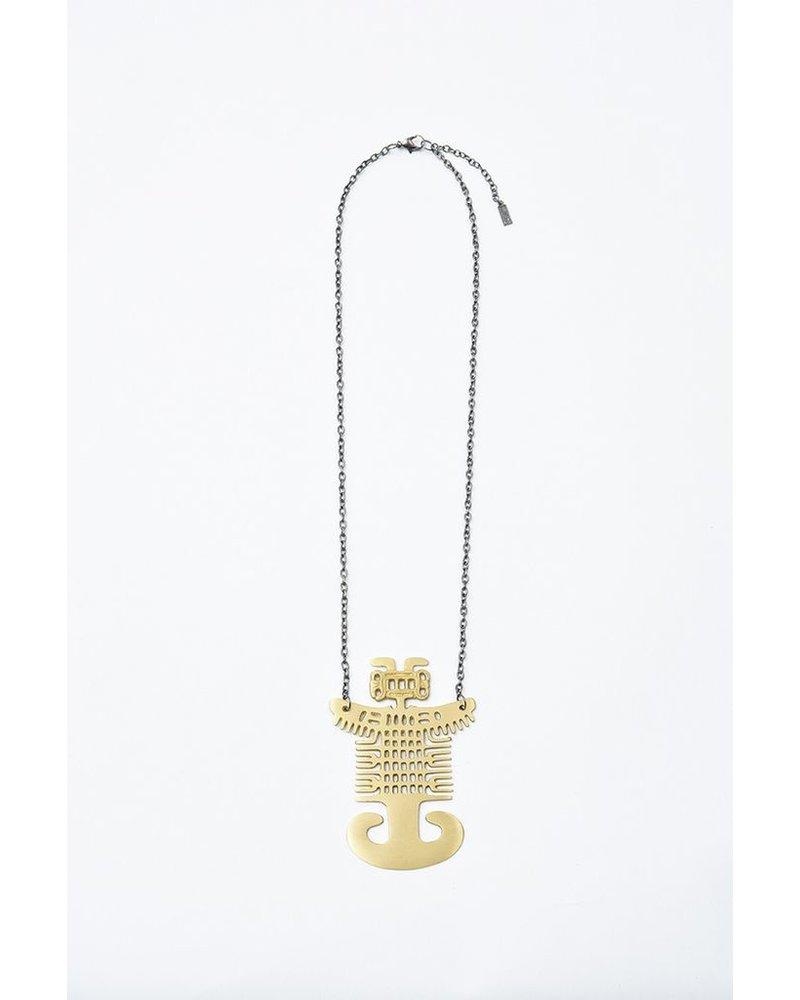 Elohi Brass Spirit Man Necklace