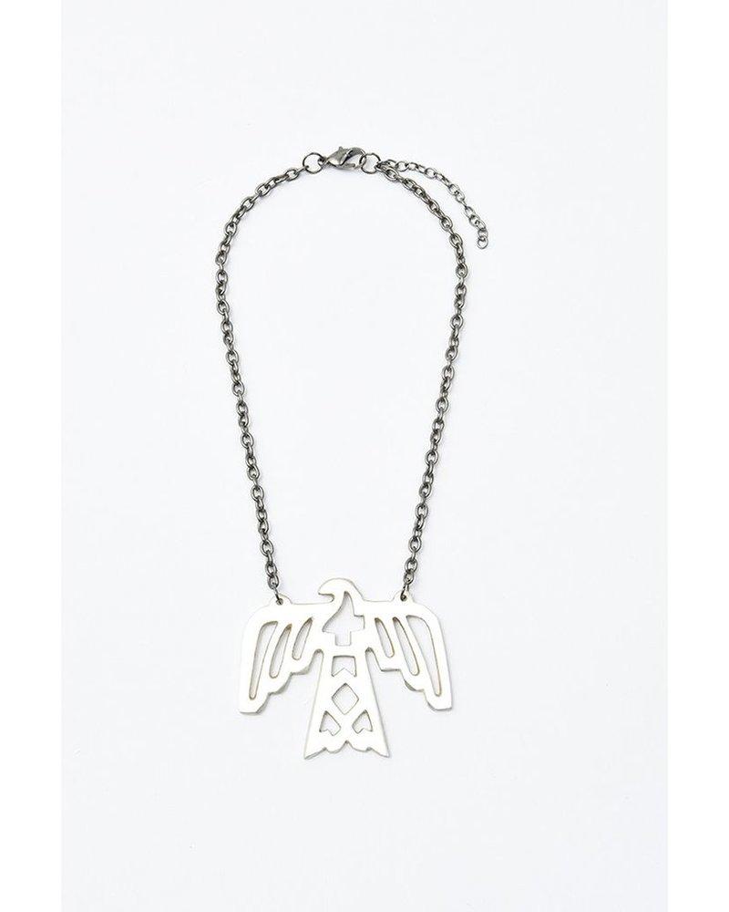 Elohi Silver Thunderbird Necklace