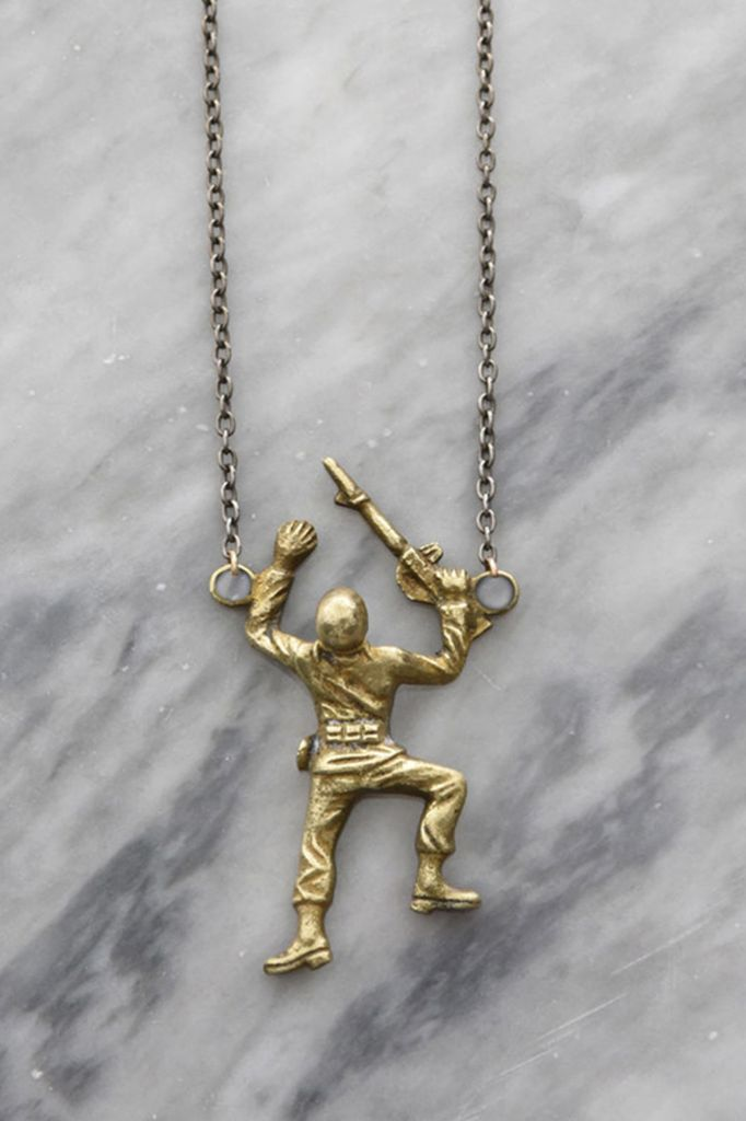Toy Story Brass Army Crawler Necklace Shady And Katie
