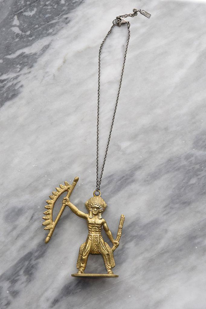 Toy Story Brass Warrior Necklace