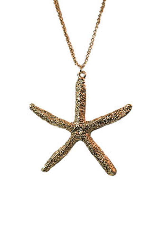 Big Gold Starfish Round My Neck