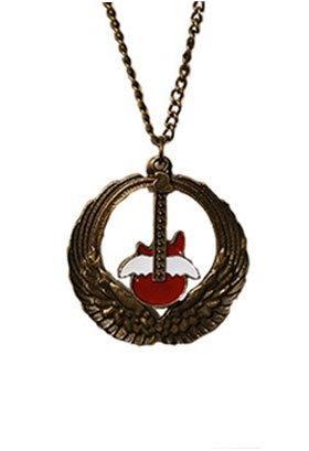 Angel Wing Guitar Necklace