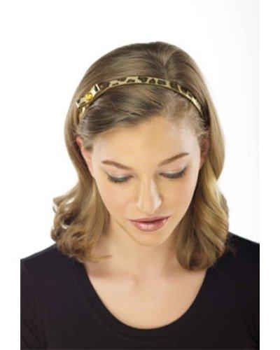 Gold Leopard Shimmer Adjustable Headband