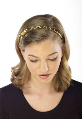 Gold Leopard Shimmer Adjustable Headband