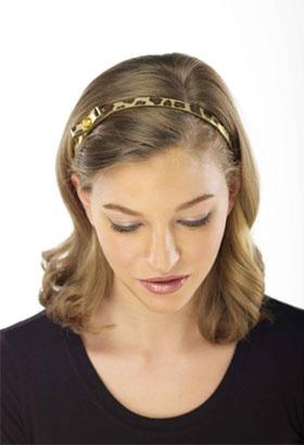 Calf Hair Brown Adjustable Headband