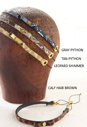 Gray Python Adjustable Headband